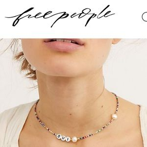 Free people Pearlized spectrum necklace